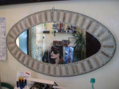 Specchiere in pietra / Specchiera mosaico ovale