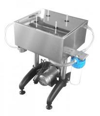 Sciacquatrice - sterilizzatrice manuale per bottiglie e vasetti