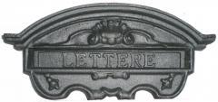 Feritoia per lettere in alluminio colore grigio ghisa