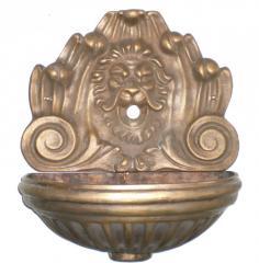 Fontana Centauro a parete in ottone