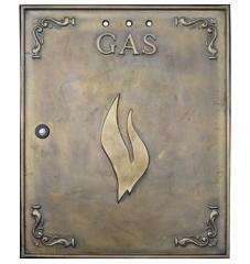 Sportello contatore Gas/Metano in ottone 40x50 cm