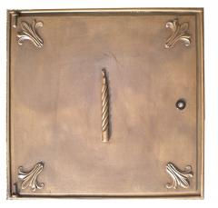 Sportello contatore Luce in ottone 40x50 cm