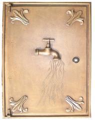 Sportello contatore acqua in ottone 40x50 cm