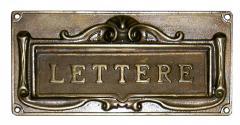Feritoia per lettere in ottone