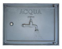 Sportello contatore Acqua con cornice  in alluminio 41x30 cm