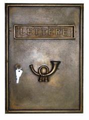 Cassetta postale in ottone Altezza 35 cm larghezza 27 cm