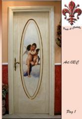 Porta Dipinta a Mano con gli angeli di Michelangelo