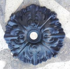 Rosone Liberty a Muro Diam. 20 cm Peso kg 1,100 Cod. LB-R608