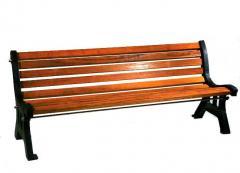 Panchina in ghisa Mod. Italia con doghe in legno iroko  o pino