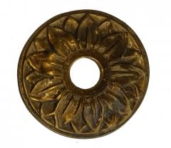 Rosone fontana o borchia rubinetto ottone diametro 9,5 cm