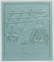 Piastra o Piana Per Camino Ornata In Ghisa cm 35x40 LB-PIAORN1