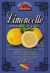 LIMONCELLO ARTIGIANALE DI SICILIA 70 cl.(Alc.28%