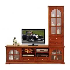 (4016-TG) Parete tv mobile porta tv e vetrina