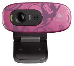 LOGITECH Webcam HD C270 - Pink Balance