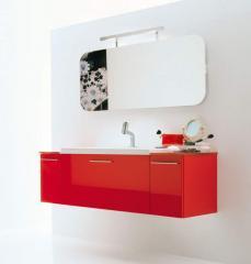Arredo Mobile Bagno Charme 2 Rosso Lucido