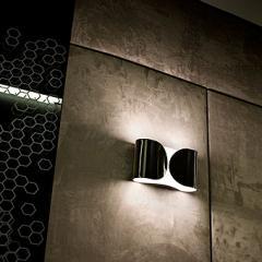 Lampada da parete foglio flos cromo