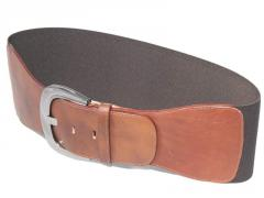 Cintura alta in vera pelle sauvage con fascia
