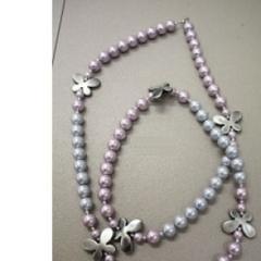 Collana perle finte