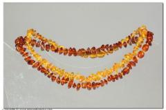 Collana chips in ambra baltica