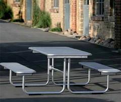 Tavolo da giardino con panchine, Modello: Parador
