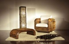 Poltrona Signori, tavolino Signori e lampada Croco