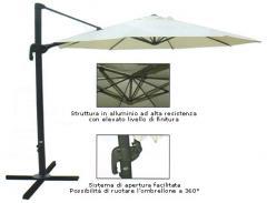 Ombrellone laterale De Luxe a chiusura/apertura