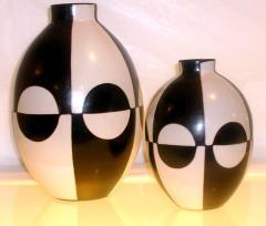 Vaso esfera negra