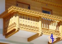 Balcone Tirolese in rovere