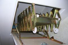 Scala retrattile manuale, in acciaio, a soffitto
