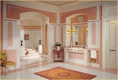 Arredo bagno, linea Luxor - Rosa