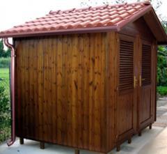 Casetta box cm. 250x250 con copertura in coppo pvc
