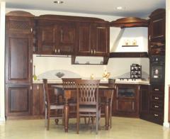 Cucina in legno massello, Colore Noce Anticato