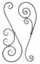 Elemento in ferro battuto, SERIE D, Barre sagomate