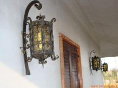 Lampada esterna in ferro battuto