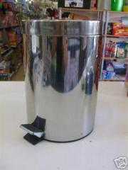 Bath kitchen trash can with pedal steel inox 5 l