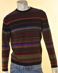 Maglione lana Trussardi girocollo multicolor