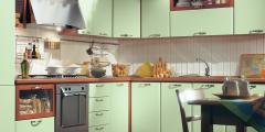 Sets of furniture for kitchen angular soft