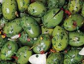 Olive verdi schiacciate tagliate Cod.012