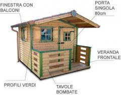 Casetta con veranda
