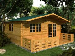 Casetta in legno Mod. Bologna 5x5  Misure: 5x5