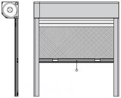 Sistema cassonetto con zanzariera integrata