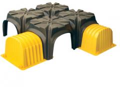Polypropylene caissons
