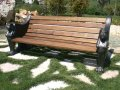 Panchina in alluminio legno iroko