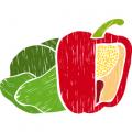 Insalate, peperoni e ortaggi vari