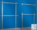 Gancere perimetrali - Montanti completi di staffe e tappi di chiusura