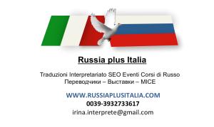Ordine Traduzioni e interpretariato lingua russa
