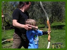 Ordine Tiro con l'arco: targa e caccia simulata