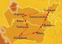 Ordine Uzbekistan & Turkmenistan